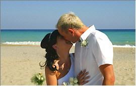 Kuss am Strand