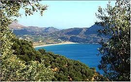 Plakias: Blick von der Straße nach Sellia auf die Bucht